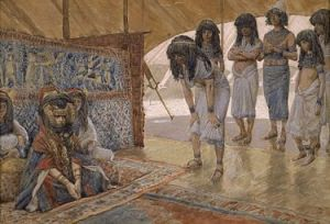 Sarai Is Taken to Pharaoh's Palace - by James Tissot. (Wikipedia)