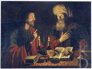 Jesus and Nicodemus, Crijn Hendricksz, 1616–1645. (from Wikimedia Commons)