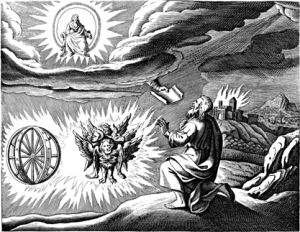 Ezekiel's vision from Wikimedia Commons